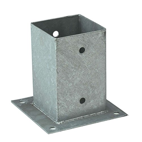 Gartenpirat Pfostenhülse Aufschraubhülsen für Pfosten 9x9 cm mit Bodenplatte