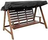Woodside - Dachbezug für 2- & 3-Sitzer-Gartenschaukel - ideal als Ersatzdach - schwarz - 3-Sitzer