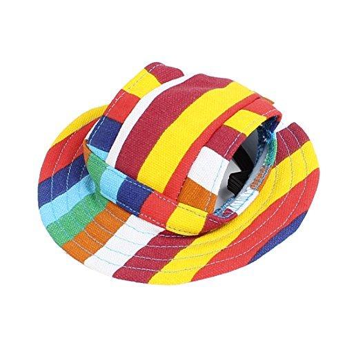 Streifen-Muster Runde Brim Pet Fedora Cap Visier Hut Farbe sortiert Brim Fedora-hut