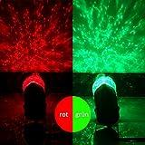 SMITHROAD LED Projektionslampe mit Erdspieß Wand Beleuchtung für Halloween Karneval Weihnachten Innen & Außen IP44 Gartenstrahler Zweifarbig Farbwechsel,Rot und Grün