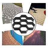 XIONGDA DIY Bodenfliesen Schimmel, mittlere Betonpflaster Ziegel Weg Maker Schimmel, Stein Pflaster Schimmel, Garten Terrasse Pflaster Schimmel Weg Maker (30 * 30 * 4,5 cm)