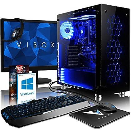 a50fc6aa0cf VIBOX Nebula LA6-49 Gaming PC Ordenador de sobremesa con War Thunder Cupón de  juego