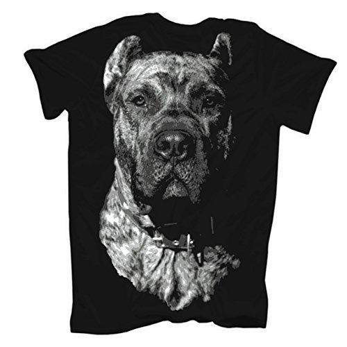 Männer und Herren T-Shirt Dogo Canario BOSS (mit Rückendruck) Schwarz