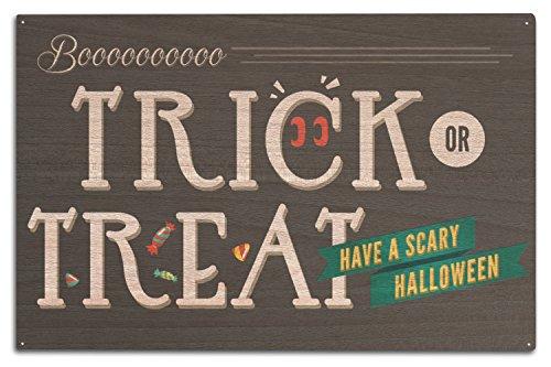 appy Halloween, holz, mehrfarbig, 10 x 15 Wood Sign ()