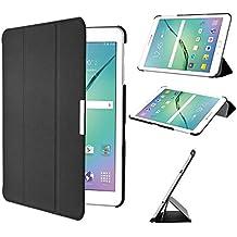 Samsung Galaxy Tab S2 SM-T810N 9.7-Inch Funda Case - IVSO Slim Smart Cover Funda Protectora de Cuero PU para Samsung Galaxy Tab S2 SM-T810N 9.7-Inch Tablet (Negro)