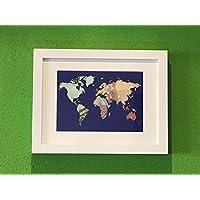 Geldgeschenk Weltkarte im Bilder