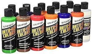 Alvin 4941-00 Createx Auto-Air Couleurs Airbrush Paint Classe Set