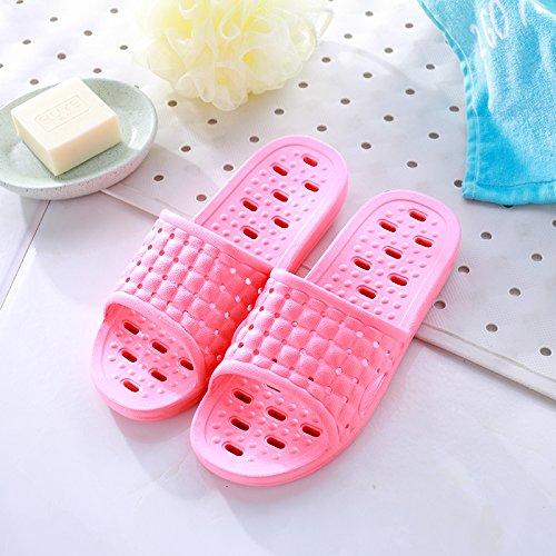 DogHaccd pantofole,Acqua ciabatte da bagno e vasca da bagno antiscivolo estate indoor paio di spessore stare fresco in estate sandali femmina Il rosso4