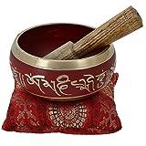 Tibetische Klangschale Schale Meditation Rote Kunst Buddhistische Dekor 10 Cm