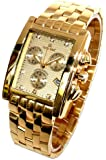 Mens Oskar Emil Rodez Limited Edition 23ct Gold Plated 7 Diamond Chronograph Watch with Gold Dial