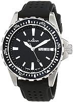 Dugena 4167821 - Reloj analógico de caballero de cuarzo con correa de goma negra - sumergible a 200 metros de Dugena