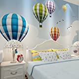 wongxl Wallpaper Mural-Aufkleber 3-dimensional Fashion 3d Heißluftballon Tapete mit Gemälde für Kinder Wohnzimmer Schlafzimmer TV -