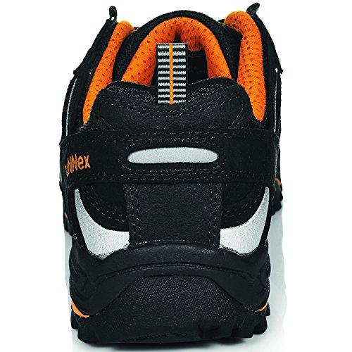 Runnex, Chaussures De Sécurité Pour Hommes Schwarz-orange-silber Schwarz-orange-silber