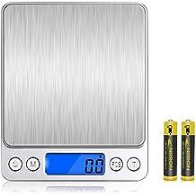 VersionTech Báscula Digital para Cocina Escala para Alimentos de 6,6 lbs/ 3 kg