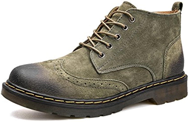 Il britannico martin british retrò cuoio cuoio scarpe da uomo stivali stivali,verde,43 | I Materiali Superiori  | Scolaro/Signora Scarpa