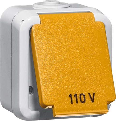 peha US NEMA-Steckdose D 6670/20 US WAB 1fach,20A 125V, grau Feuchtraum Steckdose 4010105306910