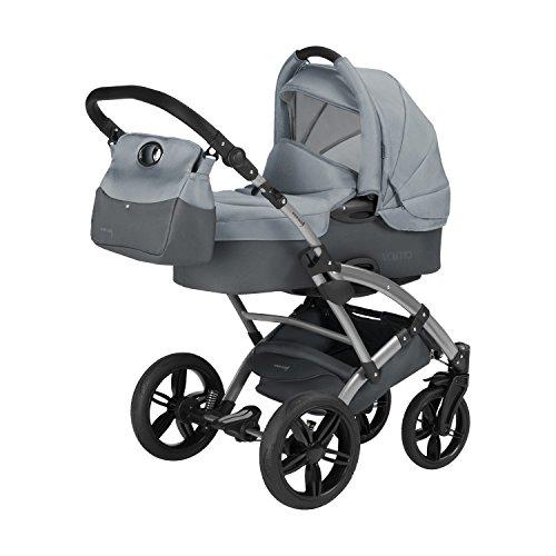 Knorr-Baby 3100-06 Kombikinderwagen Voletto Sport, grau - Baby-boden Butter