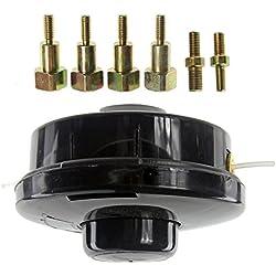 Spares2go Tête de bobine de fil rechargeable universelle à double ligne - Pour débroussailleuses et élagueuses à essence (assemblage standard)