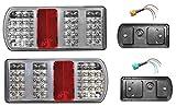 FEU 43 Led arrière GAUCHE + DROIT - 6 Fonctions - 12v 24v Auto caravane remorque