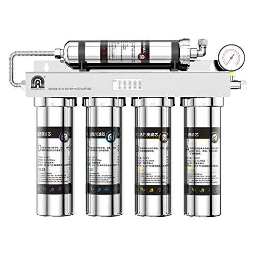 LIANGJING Purificador de Agua de ultrafiltración Hogar Bebida Recta Filtro de Agua del Grifo de Cocina Filtro de Cinco etapas de Acero Inoxidable 304