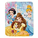 Best Disney Cots - Disney Polar Fleece Blankets-Princess - Multi Color Review