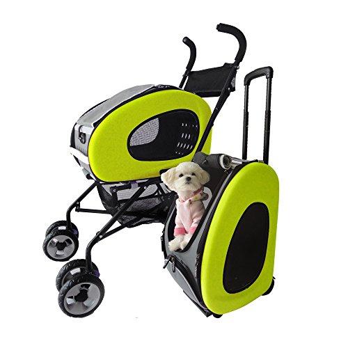 Haustier-Buggy, ips-020/grün, Hunde-Tragetasche, Trolley, Trailer, InnoPet®, Playstation Pet Buggy. Zusammenklappbar Pet Buggy, Kinderwagen, Kinderwagen für Hunde und Katzen.