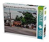 Zwei EMD G40 nutzen den Highway in Miami DOwntown auf ihrer Fahrt Richtung Hafen 1000 Teile Puzzle quer (CALVENDO Mobilitaet)