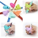 Lot de 3 porte-crayons pour enfant; MMTOP; stylo; écriture; aide; prise; outil de correction de posture