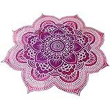Pixnor Mandala ronda Lotus tiro tapiz manta alfombra Hippy bohemio gitano mantel playa toalla redonda púrpura Mat de Yoga