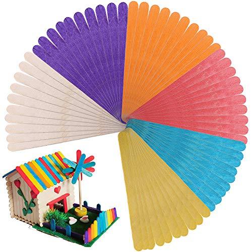 Descripción del producto Palitos madera colores es adecuado para actividades de grupo, días de lluvia, uso en el aula, campamentos y talleres de reconocimiento, fiestas de cumpleaños. También es adecuado para la boda, los marcadores de jardín, los es...