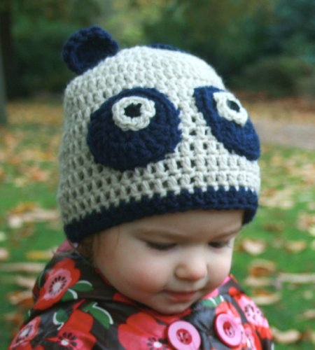 Crochet pattern panda hat includes 5 sizes from newborn to 5 years + sizes (Crochet animal hats Book 1) (English Edition) (Panda Bear Kostüm Baby)