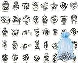 40 cuentas de plata Accesorios de Joyería para DIY Pulseras y Collares 5mm