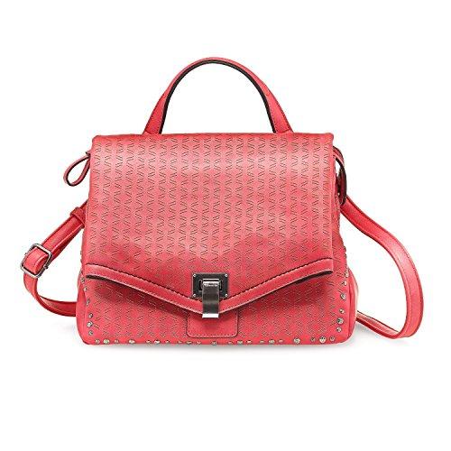 Tamaris 2138171-941 -, Borsa a spalla donna rosso Rot coral comb