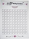 KATINGA Countdown-Kalender für die Hochzeit - Wedding Countdown für Das Brautpaar (100 Tage)