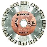 Amboss BGL 35P - Diamant-Trennscheibe Ø 350 mm x 25,4 mm - armierter Beton / Waschbeton / Natur- & Kunststein / Granit | Segmenthöhe: 10 mm (lasergeschweißt)