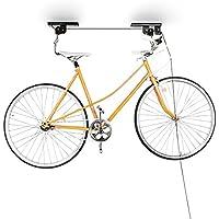 Relaxdays Fahrradaufhängung, Fahrradlift, bis 20 kg, Fahrrad Deckenhalter, mit Seilzug, für Garage und Keller, schwarz