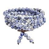Jovivi 6mm-108 Perles en Sodalite Pierre Naturelle Collier/Bracelet Chaîne Chapelet...