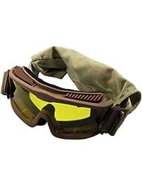 Schutzbrille Thunder deluxe, schwarz / beige/khaki, 2 Ersatzgläser Beige