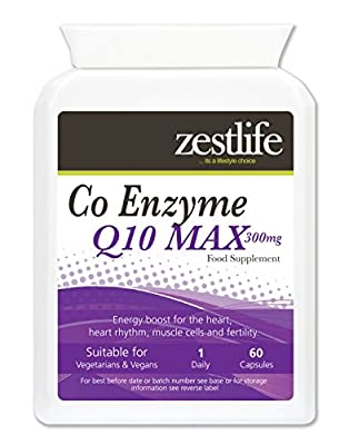 Zestlife Co-Enzyme Q10 MAX (ubidecarenone) 60 capsules from Zestlife