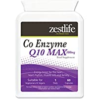 Zestlife Co -Enzyme Q10 (CoQ10 ) 300mg 2 x 60 Capsules Haute Absorption