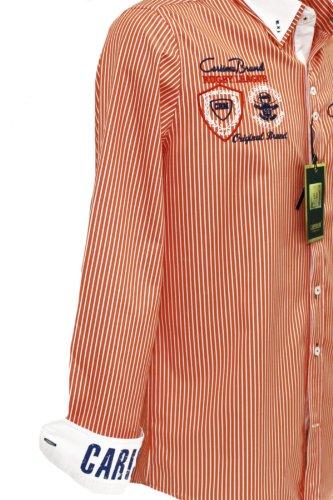 Carisma Premium Hemd mit Patches Orange