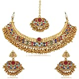 Palash Golden Color Alloy Necklace Set For Women(PNZ02N5TMS) best price on Amazon @ Rs. 925
