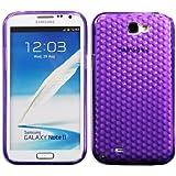 Luxburg Diamond Design coque de protection pour Samsung Galaxy Note 2 GT-N7100, en couleur Violet améthyste , housse étui case en TPU silicone