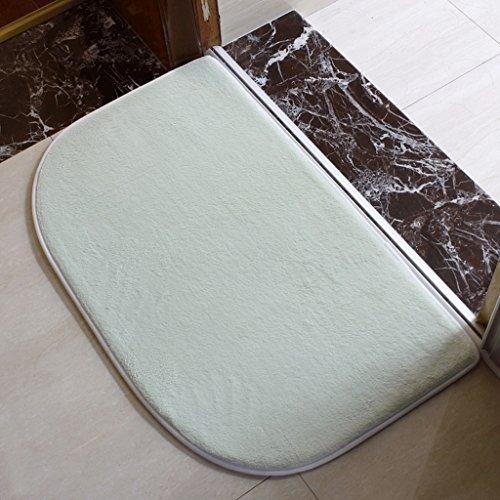 QZz Tappetini per il bagno Bagno Cucina Camera Bagno antiscivolo stuoia di acqua di assorbimento (2 Pezzi Ottomana)