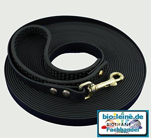 Biothane Schleppleine Schwarz 12 mm breit 7,50m