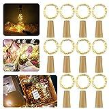 LED Flaschen-Licht,【11 Stück】20 LEDs 2M Kupferdraht Lichterkette Weinflasche Lichter mit Kork korken ,Pomisty Nacht Licht LED Lichterketten Stimmungslichter Flasche DIY Dekor für Party Weihnachten, Halloween, Hochzeit oder Stimmung Lichter