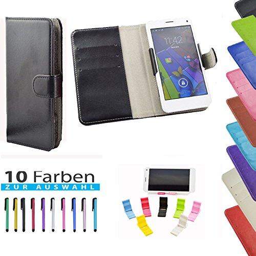 5 in 1 set Slide Tasche Hülle Case Cover Schutz Cover Etui Schwarz für Haier Phone L52