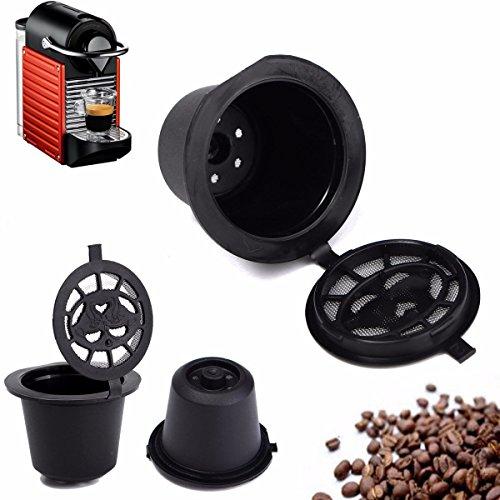 Bazaar Cocina casera de café taza recargable cápsula de filtro de recarga reutilizable para máquina de Nespresso