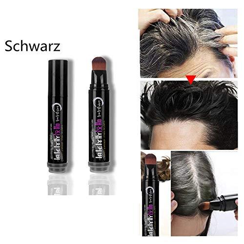 Yncc Natürliches Kraut Haar Mascara Haarfärbestift Schnelle Haarfärbepflanze Haarfärbebalken- Schwarz, Braun, Kaffee (Schwarz) -