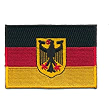60 x 35 mm Deutschland Flagge Berlin Germany Flag Patch Aufnäher Aufbügler 0626 B